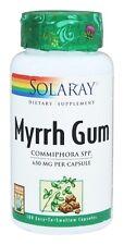 Myrrh Gum - 100 Capsules - Solaray FAST SHIPPING 650 Mg