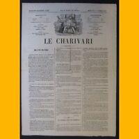 Journal LE CHARIVARI dessin de Cham 11 février 1874