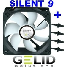 Fan for Case PC 92mm Gelid Silent 9 Fan 90 x 90x25 + Rubbers 1500rpm 12V