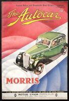 THE AUTOCAR MAGAZINE 23 APR 1937 - 32HP 4.3-LITRE ALIVIS SALOON ROAD TEST