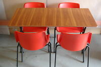 folding table & stacking chairs/dining table & chairs/ Canteen Table & chair