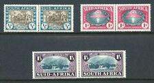 South Africa George 6th 1938 Heugenot Landing in S. Africa set 3 pairs mint