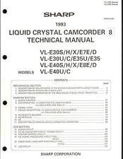Sharp Original Service Manual für 8mm Camcorder VL-E 30S/30U/40S/40U /E8/E7/E35