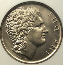 New listing 1926R Albania Lek - Ngc Ms64 - Rare Bu Coin!