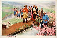 Original Vintage Poster Chinese Cultural Revolution Spring in Dazai 1974 Mao