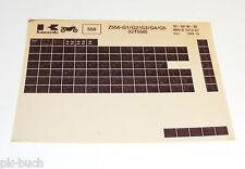 Microfich Ersatzteilkatalog Kawasaki GT 550 Stand 12/1988