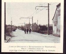 1929  --  LIGNE ELECTRIQUE A OBERHAUSBERGEN   W040