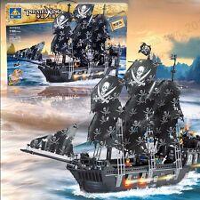 KAZI Building Blocks Caribbean Pirate Black Pearl Ship Boat Gift #87010 1184pcs