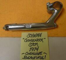 "New ListingSchwinn ""Gooseneck"" Stem, Genuine, 1974, fits 'Sting-Ray' (Beautiful!)"
