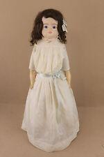 "28"" Antique Wax Over Papier Mache German Shoulder Head Doll 1860s for Tlc Repair"