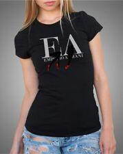 Emporio Armani E.A Womens Black T shirt Slim fit size S*M NWT