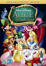 "ALICE IN WONDERLAND 60TH ANNIVERSARY EDITION DISNEY DVD REGION 4 ""NEW&SEALED"""