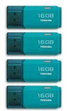 4 x Toshiba 16GB TransMemory U202 USB 2.0 Flash MEMORY Drive USB Stick Aqua