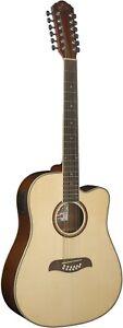 Oscar Schmidt OD312CE 12 String Acoustic Electric Guitar Natural