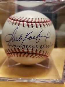 Sandy Koufax Signed Autographed Baseball No Hitter Inscription 15/32 limited LA