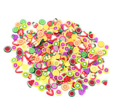 Fashion 3D Fruit Flower Fimo Slices For Slime DIY Crafts Nail Art Decoration