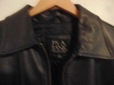Men's Jos. A. Bank Black Leather Lined Bomber Jacket-L