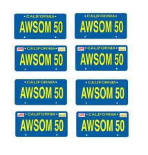 1/24 1/25 scale model car Cobra Awsom50 license plates tags 1:25