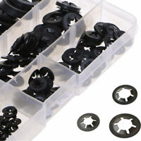 260Pcs Star Push On Lock Washers Metric Shafts Speed Clips Fastener Assorted Set