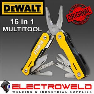 DEWALT MT16, 16 in 1 Multi Tool / Pocket Knife Stainless Steel No Rust DWHT71843