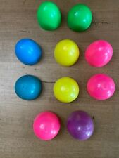 Lot Of 5 Rare Large Vintage 1960's Hard Plastic Easter Eggs - Mint Condition