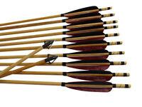 "12x 32"" Archery Hunting Arrows Wood Shaft Handamde for Longbow Recurve Bow"