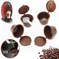 4Stk Coffee  Capsules Pod für Dolce Gusto Compatible Refillable Permanent Coffee