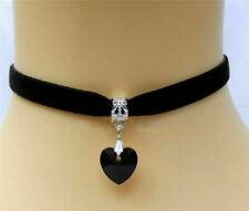 Heart Black Fashion Necklace Girls Jewellery Collar Chocker Ladies Trendy Choker