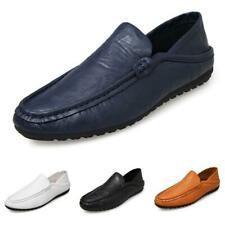 Mens Driving Moccasins Shoes Pumps Slip on Loafers Flats Soft Comfy Breathable B