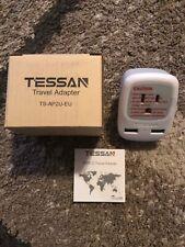 European Travel Plug Adapter - TESSAN International Power Plug with 2 USB Ports