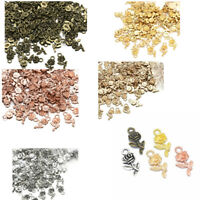 16PCS Tiny Alloy Rose Flower Charm Pendant Findings for DIY Jewelry Making Craft