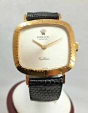 Rare ROLEX CELLINI 18k Yellow Gold Women's Watch Cal.1601