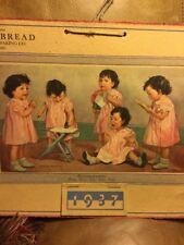 Dionne Quintuplets 1937 Calendar Salem Ore Master Bread Cherry City Ontar Canada