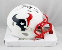DeAndre Hopkins Signed Houston Texans Flat White Speed Mini Helmet- JSA W Auth