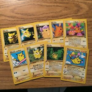 Pokemon Pikachu World Collection 2000 Set Complete 9 Cards Lot