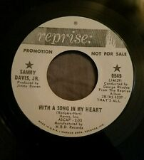 Sammy Davis Jr WLP promo 45 The Birth of the Blues / With a Song in my Heart exe