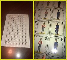 Guernsey Royal militia foglio intero da 88 francobolli RARO NUOVO