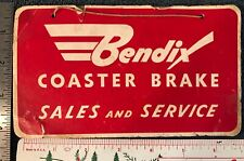 VTG Bendix Coaster Brake Bicycle Sales Service Hanging Cardboard Sign (schwinn)