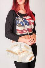 oversized vintage grey & cream snake skin lpatchwork leather PALIZZIO clutch bag