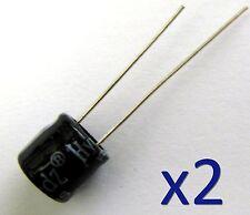 Lot de 2 condensateur électrolytique 16V 470uF /2x Radial Electrolytic Capacitor