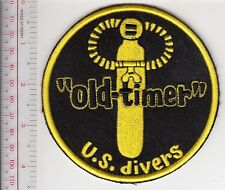 SCUBA Diving USA US Divers Aqua-Lung Mid 1960 to mid 1970 ''Old Timer'' Patch Ye