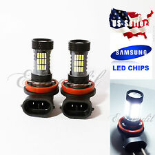 JDM H11 57 SMD LED 6000K White Samsung Chip 4014 #e13 2x Bulbs High Low Beam Fog