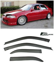 EOS Visors For 92-95 Honda Civic Sedan JDM Smoke Tinted Side Window Deflectors