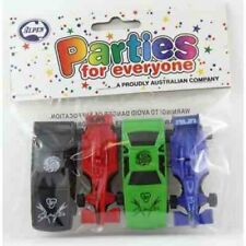 TOY MINI CARS PACK OF 4 PARTY LOOT BAG FILLER TOY GIFT PINATA FILLER