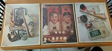MLB Baseball First Edition Print Lot Ty Cobb Christy Mathewson Stan Musial