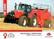 Massey Ferguson MF8400 Tractors brochure - 2005 - 24 pages