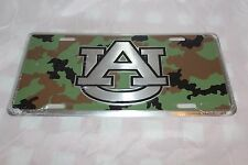 Camo Camouflage Auburn University Stamped Metal License Plate