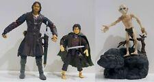 3 figurines articulées film LE SEIGNEUR DES ANNEAUX h=17cms Aragorn Bilbo Golum