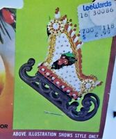 Walco Holiday OLD FASHIONED SLEIGH Vtg Sequin Bead Christmas Ornament Craft Kit