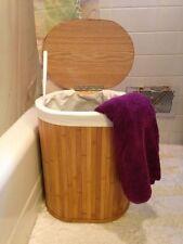 Oval Bamboo hamper Basket Laundry Basket,Storage Basket Largest one of Two